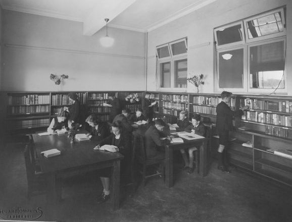 Section of library, 1946