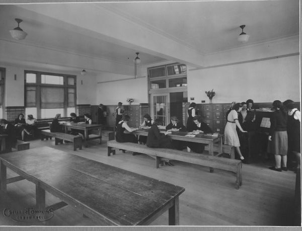 The girls common room, 1946