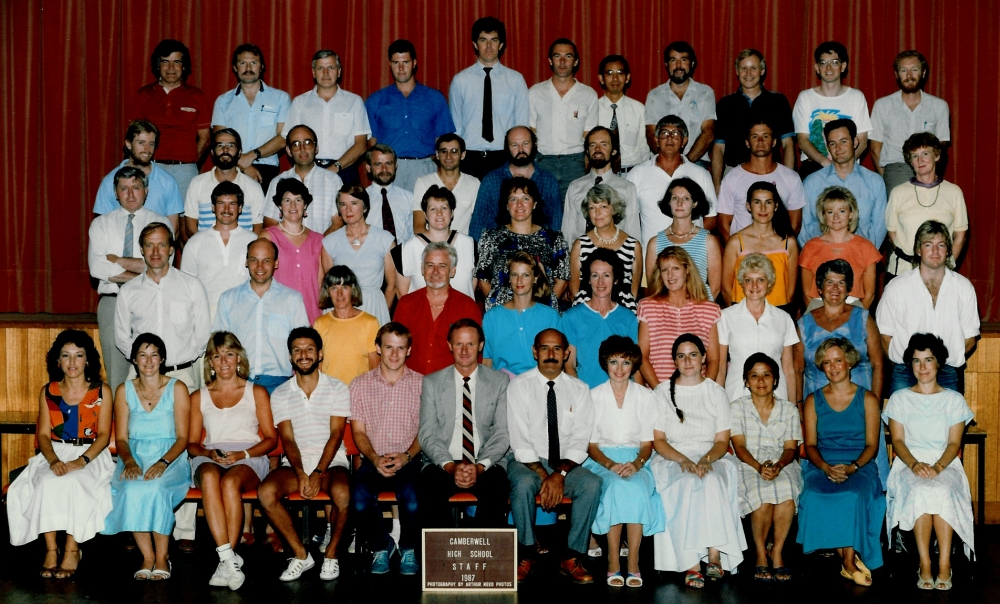 Staff in the 1980s